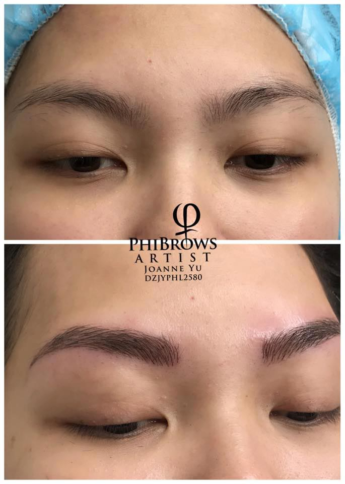 Eyebrow Embroidery - Microblading Hyperrealistic, Shading, Ombre 1